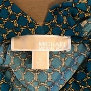 MICHAEL Michael Kors Tops - MICHAEL Michael Kors Green Open Front Snap Shirt S